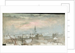 Study of Rooftops in the Snow by William Lionel Wyllie