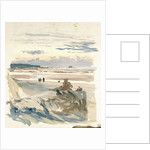Figures on a beach, probably at Ambleteuse by William Lionel Wyllie