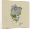 Blue flower with mauve centre, possibly sea holly by William Lionel Wyllie