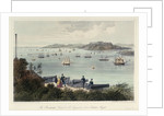 The Breakwater, Sound & Mt Edgecumbe from Staddon Heights (Plymouth). Six Views of the Picturesque Scenery of Plymouth' by Newman & Co