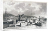 Plymouth Breakwater from the West by Thomas Allom