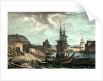 Stonehouse Bridge from Richmond Walk. Illustrations of Plymouth, Devonport, etc No.2 by GR Sartorius