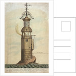 South Elevation of the Original Lighthouse, Built upon the Edystone Rock, according to the first Design of Mr Winstanley' by Jaaziell Johnston