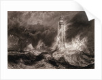 Bell Rock light house during a storm from the North East by Joseph Mallord William Turner