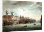 West India Docks by Thomas Rowlandson