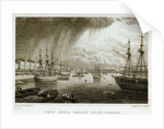 West India Import dock, Poplar by Thomas Barber