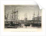 St Katharine's Docks, from the Basin by H. Jorden