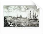 HMS 'Queen' and 'Devastation' entering Malta harbour by unknown