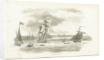 Greenwich Hospital in the distance, with the 'Augusta', royal yacht, 5 April 1795 by Nicholas Pocock