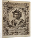 Christopher Columbus (1451-1506) by Johannus Theodorus de Bry