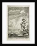 Capt. Hen Morgan before Panama wh. he took from the Spaniards. Plate to Johnson's History of Highwaymen 1734 by J. Nicholls