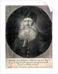 Iohn Worley Pentioner in her Majties Royll Hospital for Seamen att Greenwich Born in Wales Ao 16-24 done from ye Life and Sold by In Faber near ye Savoy in ye Strand 1709 by James Thornhill
