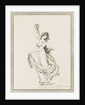 Emma, Lady Hamilton, in a classical pose, dancing and poised on her right foot by Frederick Rehberg