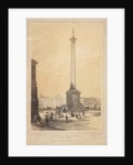 Lord Nelson's monument in Trafalgar Square by Thomas Coleman Dibdin