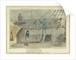 Midshipman Blockhead, Master B on the Middle Watch, cold blows the wind & the rain's coming on by George Cruikshank