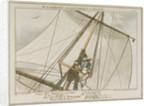 Midshipman Blockhead, Mr B mastheaded or enjoying the fresh air for the 304th time by George Cruikshank
