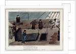 Midshipman Blockhead, Mr B on the Middle Watch, cold blows the wind & the rains coming on by George Cruikshank