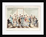 Midshipman Blockhead, waiting room at the Admiralty by George Cruikshank