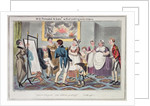 Midshipman Blockhead, Mr B Promoted to Lieut & first putting on his uniform by George Cruikshank