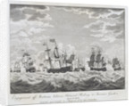 Engagement off Martinico between Admiral Rodney & Monsieur Guichen April 18, 1780 by James MacGowan