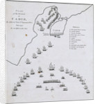 Plan of the blockade of Cadiz, June 1797 by unknown