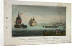 Destruction of the frigate 'La Preneuse', 11 December 1799 by Garneray