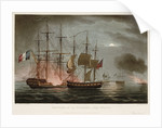 Capture of 'La Desiree', 7 July 1800 by Thomas Whitcombe