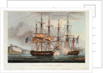 Capture of 'La Chiffonne', 19 August 1801 by Thomas Whitcombe