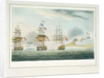 Capture of the 'Pomona' by Anson & Arethusa off Havannah, 23 August 1806 by Thomas Whitcombe