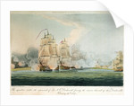 The squadron under the command of Sir J.T. Duckworth forcing the narrow channel of the Dardanelles, 19 February  1807 by Thomas Whitcombe