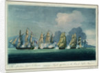 The 'Spartan' engaging a French squadron in the Bay of Naples, 3 May 1810 by Jahleel Brenton