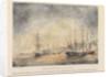 Combat du Grand Port (le 23 Aout 1810) Defaite de l'escadre Anglae par la Divn France compe de la Bellone comdt Duperrey, la Minerve commdt Pre Bouvet, le Ceylan capne Moulac, le Victor capne Moisson by A.J.M. Bazin