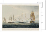 The 'Northumberland' engaging two French frigates, 22 May 1812 by Thomas Whitcombe