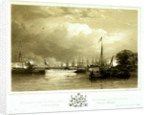 Her Majesty and Prince Albert, Proceeding in the State Barge, to land at the Royal Dock-Yard, Devonport by Nicholas Condy