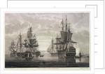 HMS 'Victory', 'Captain', 'Agamemnon', 'Vanguard' & 'Elephant' by Nicholas Pocock