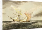 HMS 'Thisbe' on fire by lightning, 4 January 1786 by Nicholas Matthew Condy