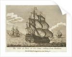 The 'Ville de Paris' of 110 guns sailing from Chatham by D. Ash