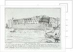 'Temeraire' lying at Rotherhithe by William Beatson