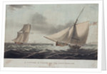 A cutter in chase, off the North Foreland by Thomas Whitcombe