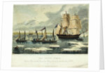 The Arctic ocean Captain Ross and the crew of the 'Victory' saved by the 'Isabella' of Hull by J. Ross