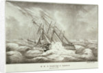 HMS 'Cambridge' and squadron, 2-3 December 1840 by Brocktorff