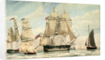 HMS 'Ganges' leaving Spithead on the 8 August 1826 by unknown