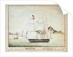 HMS 'Winchester' going into Pulo Penang, 9 December 1835 by unknown