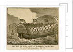 Launch of HM Ship 'St George', 120 guns, from the Dock-Yard Devonport, August 27th, 1840 by Hearder