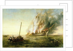 The 'Bombay' on fire 1861 by Richard Brydges Beechey