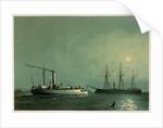 A print of HMS Enterprise & H.M.G.B Comet by Griffin & Co, 1872 by Griffin & Co