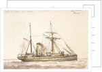 Delta' a Chinese gunboat built 1886 by unknown