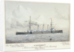 HMS 'Kent' named and launched at Portsmouth 6 March 1901 by H. Coish