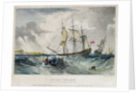 An East Indiaman lying too, for part of her crew by Samuel Owen