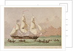 The missionary ship 'Duff' arriving at Otaheite by Kronheim & Co